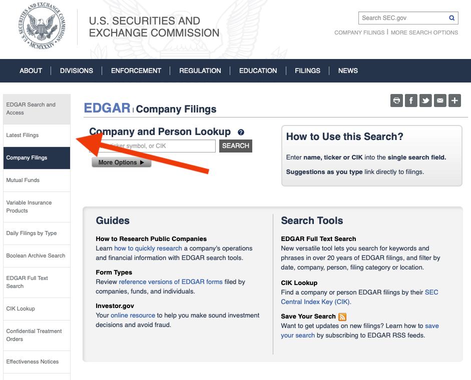 SEC latest filings